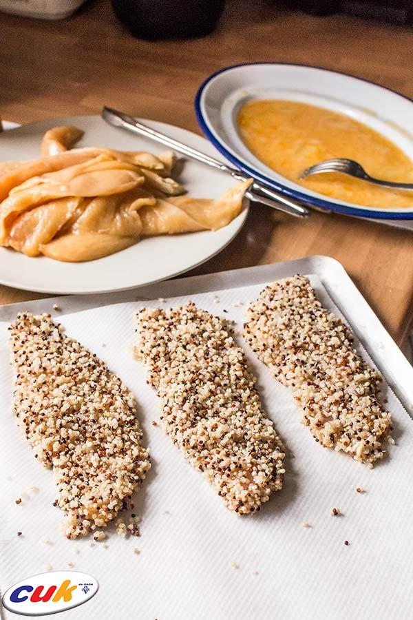 Pechuga de pollo con costra de pistacho